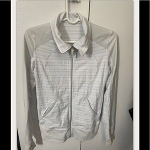 Lululemon Ivory/Beige Striped Stride Jacket size 4